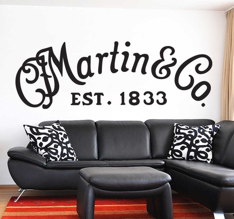 Sticker logo Martin guitare