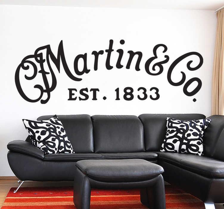 TenVinilo. Vinilo decorativo logo Martin. Si eres músico y tienes un instrumento en casa de esta genial marca americana de guitarras acústicas querrás este adhesivo.