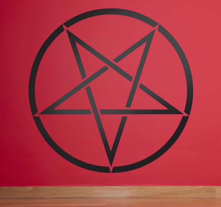 Adesivo murale simbolo satanico 1