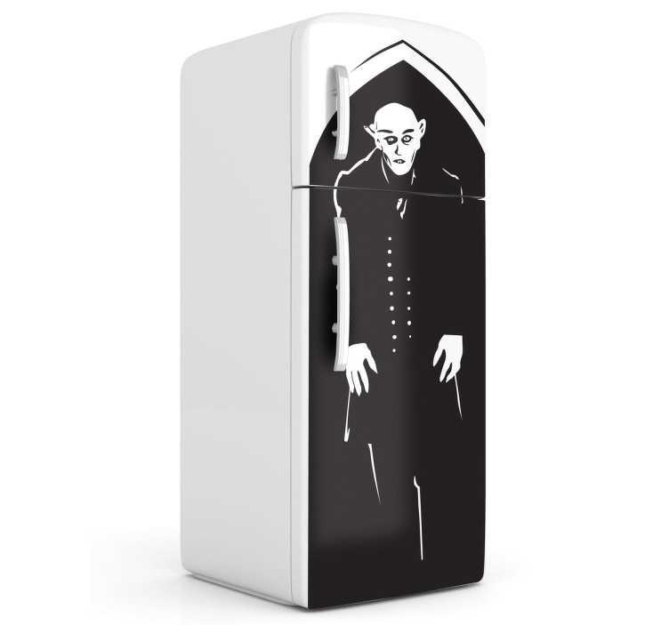 TenStickers. Count Orlok Fridge Sticker. Celebrate one of the most influential movies of all time with this haunting Nosferatu fridge decal