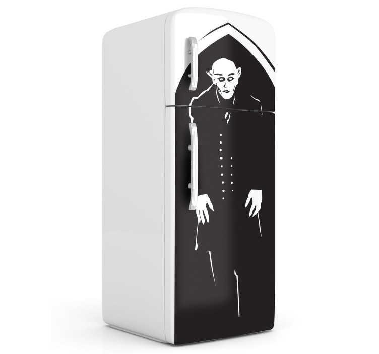 sticker frigo nosferatu tenstickers. Black Bedroom Furniture Sets. Home Design Ideas