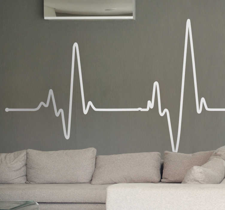 TenStickers. Electrocardiogram Wall Sticker. A creative and original decal of an electrocardiogram! Brilliant design from our line stickers collection.