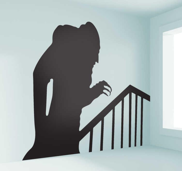 TenStickers. Sticker mural ombre Nosferatu. Nosferatu le vampire, un film d'horreur qui a fait hérisser les poils de plus d'un ! Si vous êtes fans de ce film, ce sticker va vous plaire !