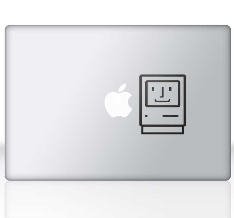 TenStickers. Old MacBook Laptop Sticker. A fun design inspired by the old mac design. Great for customising your laptop or tablet from our collection of MacBook stickers.