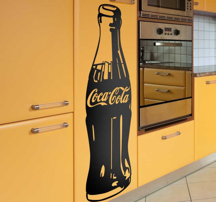 TenStickers. Adesivo decorativo bottiglia CocaCola. Sticker decorativo con dettagliata riproduzione della famosa bottiglietta di vetro della CocaCola.