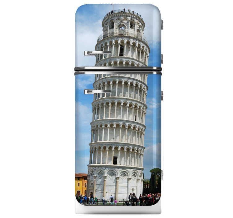 Ontwerper Toren Van Pisa.Toren Van Pisa Koelkast Sticker Tenstickers