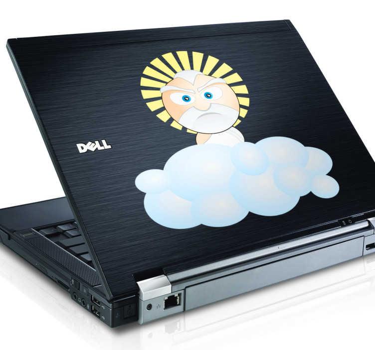 Bild von Gott Laptop Aufkleber