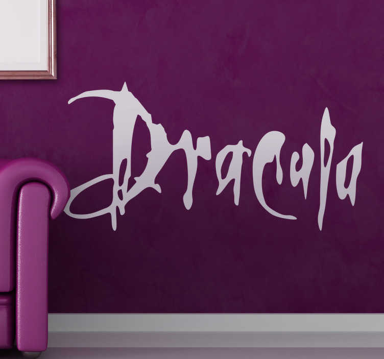 TenStickers. Dracula Wall Sticker. A brilliant text wall sticker of the famous movie directed by Francis Ford Coppola, Dracula.