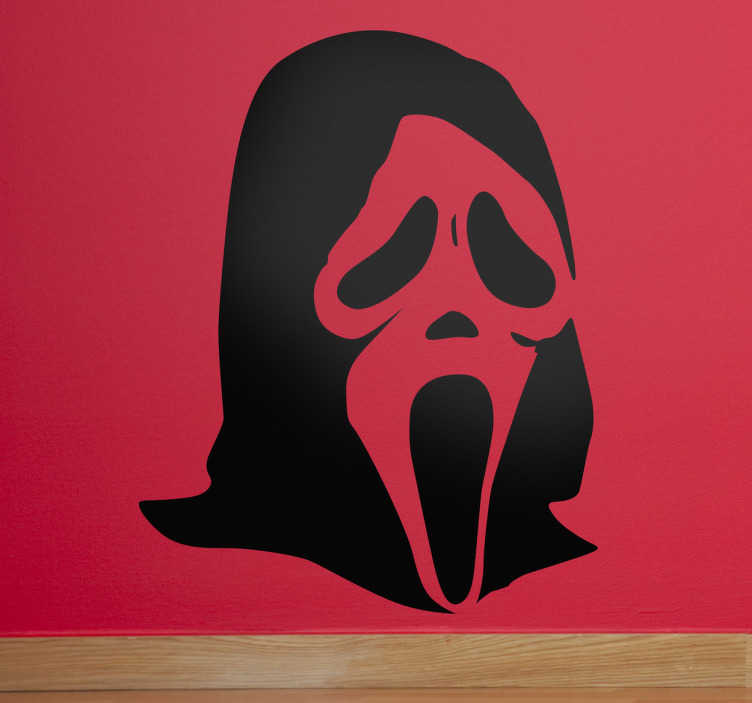 Sticker decorativo maschera Scream