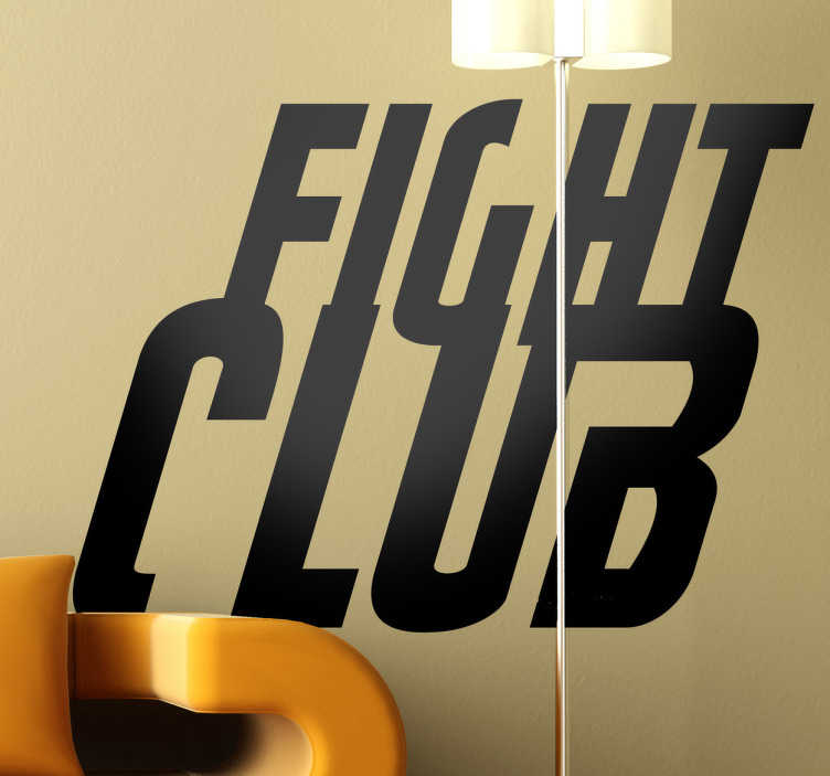 TenVinilo. Vinilo decorativo el club de la lucha. Logotipo adhesivo en inglés de la famoso film protagonizado por Brad Pitt y Edward Norton.