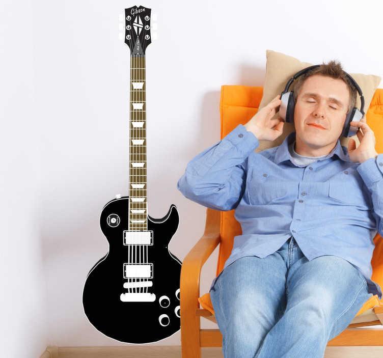 TenVinilo. Vinilo decorativo Gibson Les Paul. Adhesivo con este reconocido modelo de guitarra eléctrica, un clásico de la historia del rock.