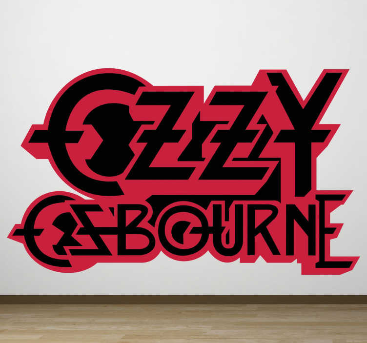 Sticker decorativo logo Ozzy Osbourne