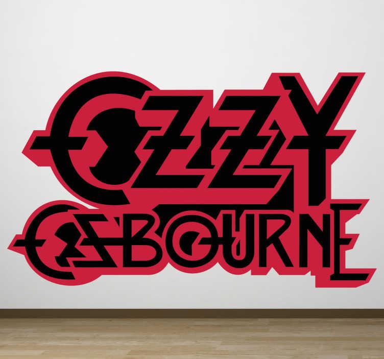 TenStickers. Naklejka Ozzy Osbourne. Naklejka dekoracyjna z czarno-czerwonym logo brytyjskiego muzyka, wieloletniego członka zespołu heavymetalowego Black Sabbath.