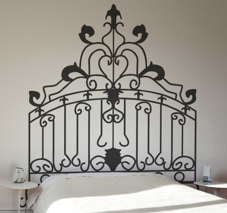 TenStickers. Rococo Headboard Wall Decal. Headboards - Distinctive decoration feature above your bed. Rococo themed wall sticker available in 50 colours and various sizes.