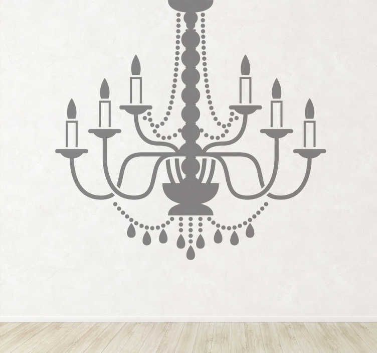 TenStickers. Candle Lamp Decorative Sticker. Iconographic representation of this candle lamp sticker! If you want to give your home and elegant touch this is it!