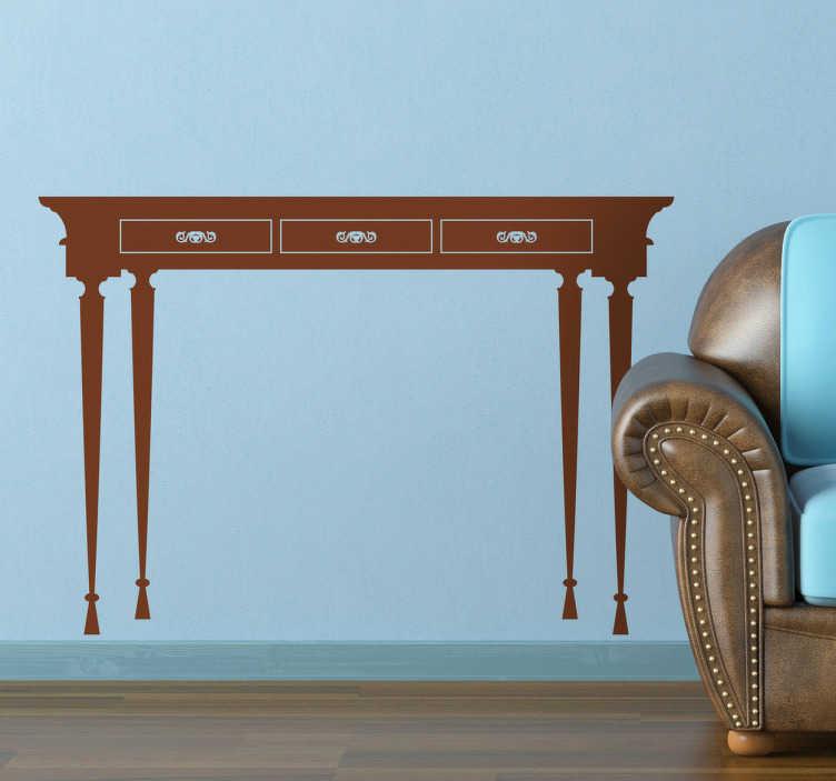 Sticker decorativo tavolo classico