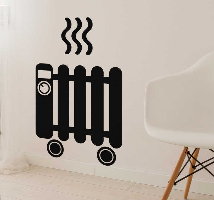 Autocollant mural radiateur tenstickers for Autocollant mural texte
