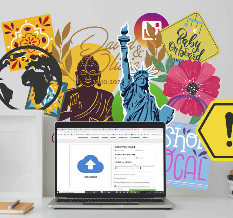 TenStickers. Autocolante sticker para tablet William Tell. Sticker para tablet e computadores portáteis. Autocolante de inspiração de William Tell. Vinil decorativo para personalização de dispositivos.