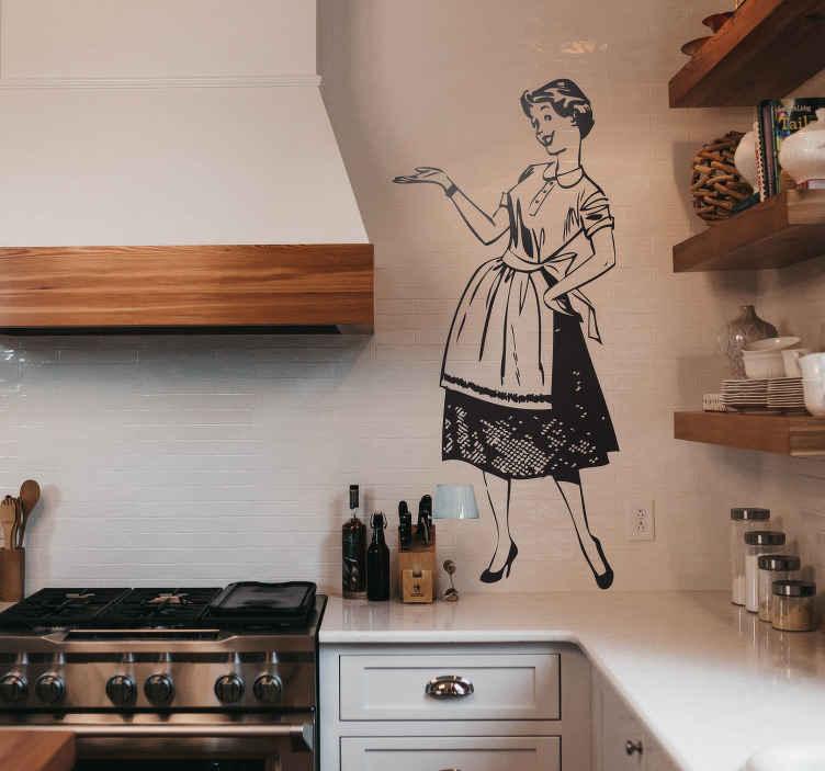Naklejka dekoracyjna Pani Domu