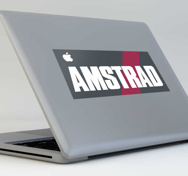 TenVinilo. Vinilo decorativo portátil Amstrad. Pegatina para los nostálgicos de los primeros ordenadores para el hogar.