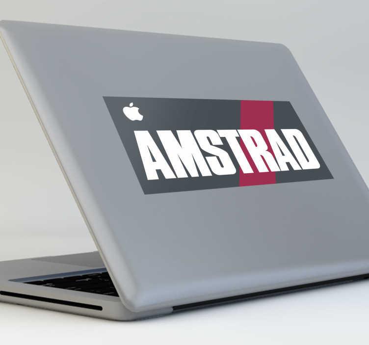 Vinilo decorativo portátil Amstrad