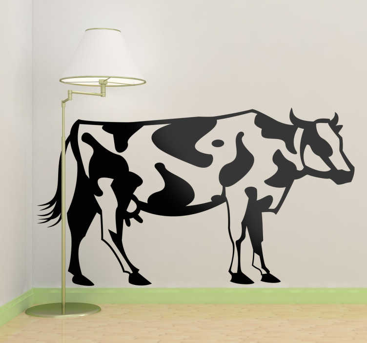 TenStickers. Cow Illustration Wall Sticker. Wall Stickers - Illustration of a cow. Available in various sizes and in 50 colours. Made from high quality vinyl. Easy to apply and easily removable.