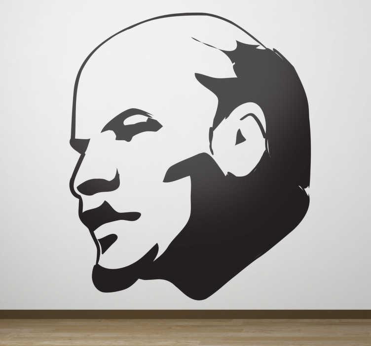 TenStickers. Sticker portrait Lénine. Stickers illustrant le portrait du leader révolutionnaire russe, Lénine.Adoptez ce stickers pour une décoration d'intérieur qui ne passera pas inaperçue.