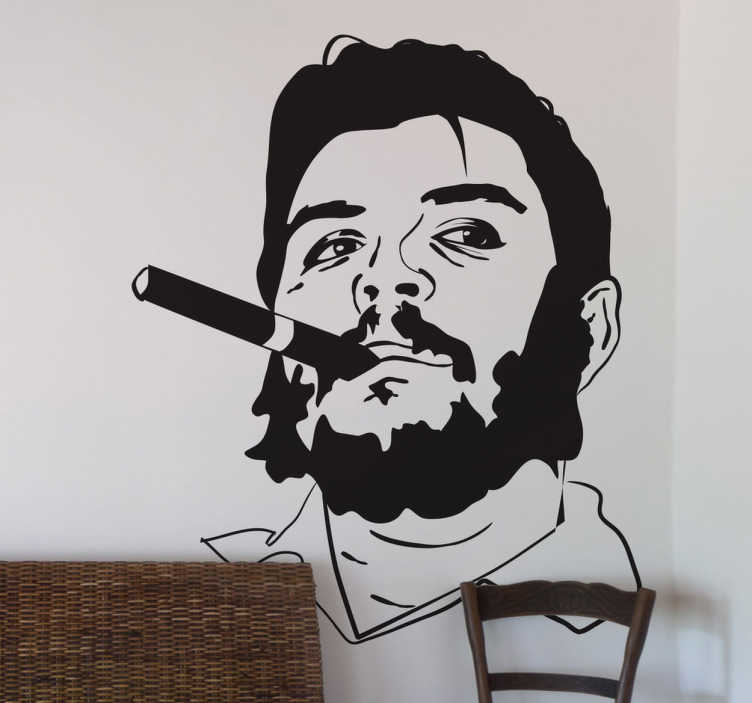 TenStickers. Che Guevara. Iconographic representation of the famous Argentinian revolutionary leader.