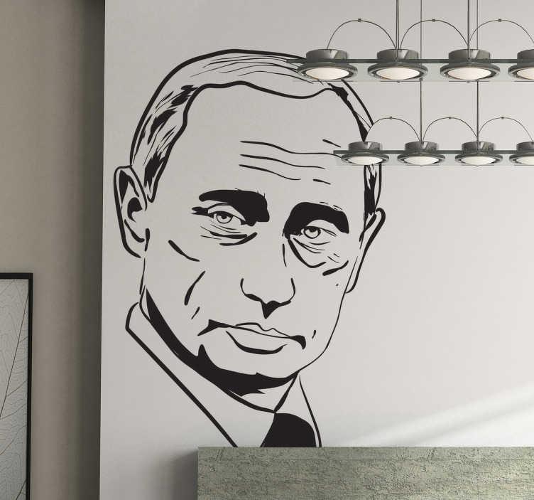 TenStickers. Wandtattoo Wladimir Putin. Dieses Wandtattoo zeigt Wladimir Putin, den russischen Präsidenten, in seinen Umrissen.