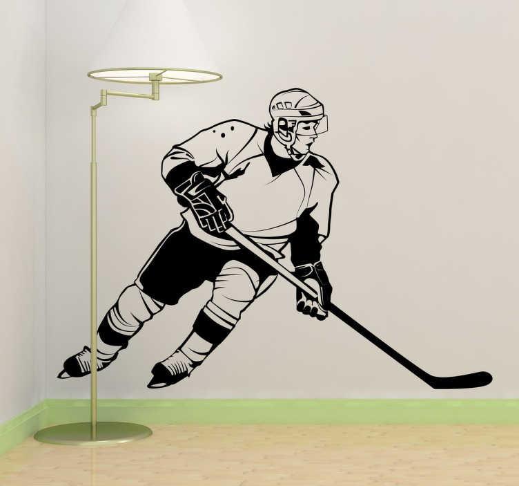 Sticker decorativo hockey player