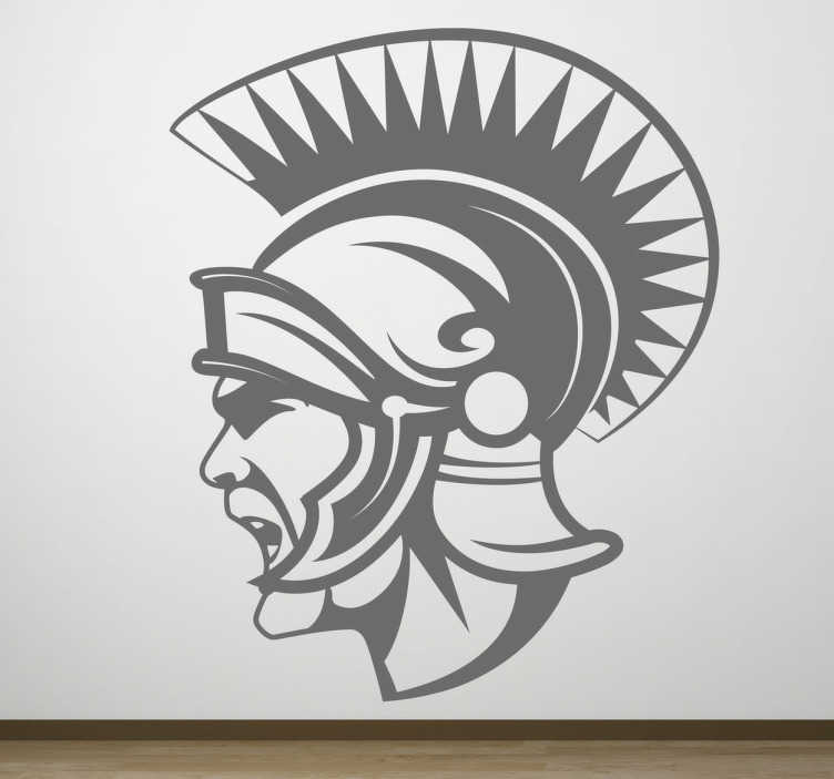 TenStickers. Centurion Profile Sticker. A sticker with an iconographic representation in mono-colour of a soldier of ancient imperial Rome.