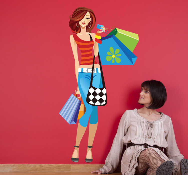 Sticker printemps shopping