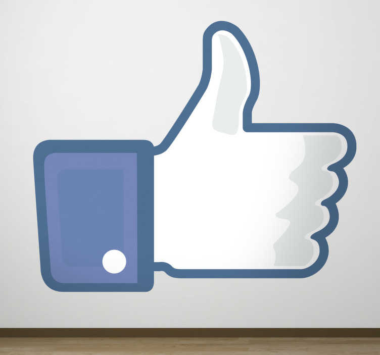 facebook like icon decal tenstickers. Black Bedroom Furniture Sets. Home Design Ideas