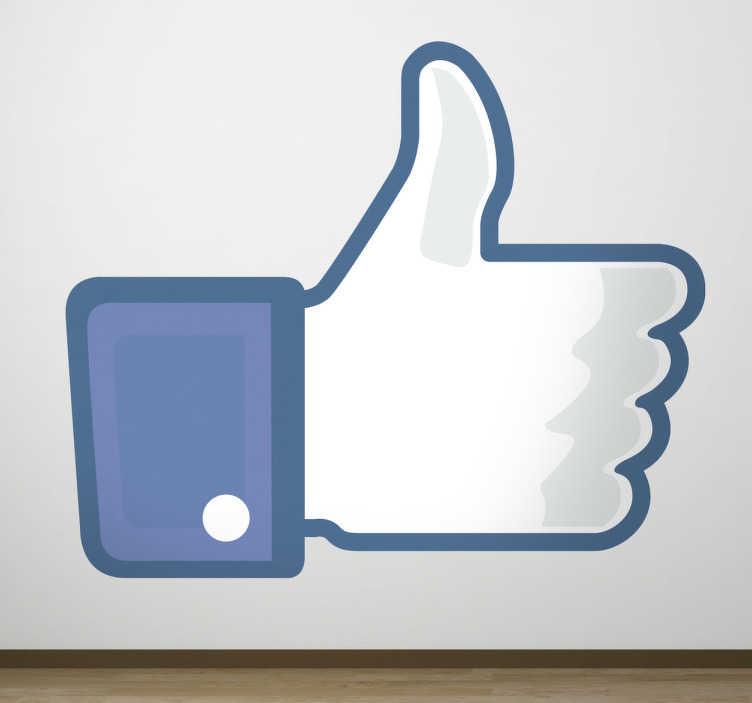 """TenStickers. Vinil decorativo """"Like"""" no Facebook. Se tem uma página do seu negócio no Facebook este vinil decorativo é o ideal para colocar na sua montra ou carro comercial."""