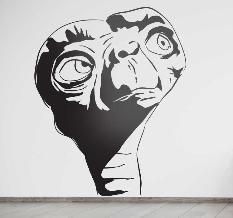 Naklejka na ścianę postać z E.T.