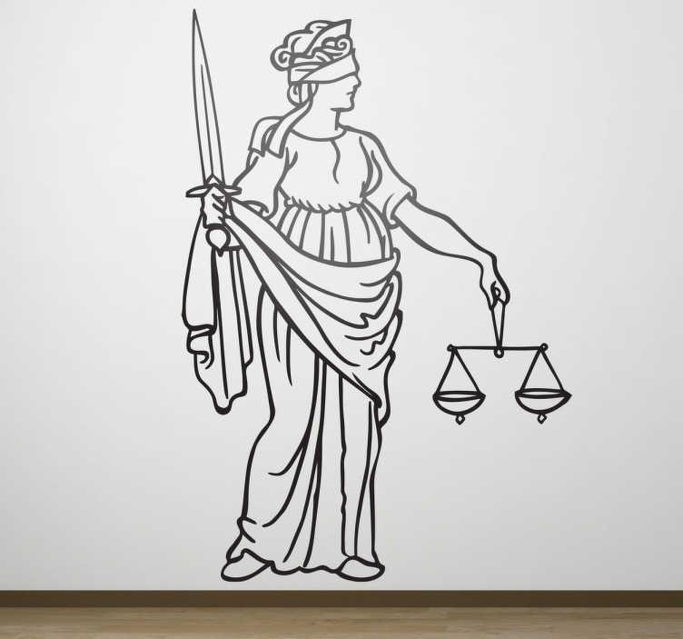 Naklejka postać sprawiedliwości