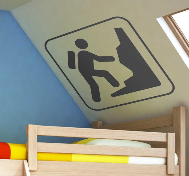 TenStickers. Naklejka dekoracyjna logo wspinaczka. Jednokolorowa naklejka dekoracyjna przedstawiająca logo związane ze wspinaczką.
