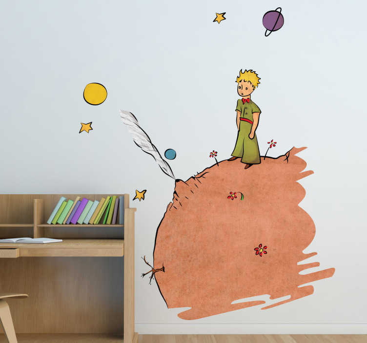 TenStickers. The Little Prince Kids Decal Colour. A colourful kids sticker illustrating The Little Prince of Saint-Exupéry! A fascinating design to bring colour into your child's bedroom.