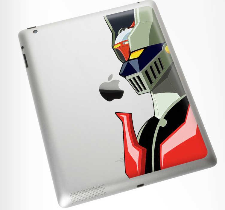 TenVinilo. Vinilo decorativo mac mazinger ipad. Personaliza tu dispositivo Mac con un adhesivo decorativo. Decora tu Ipad con una pegatina de Mazinger Z. Crea un complemento único, diferente y especial con el que todo el mundo quedará asombrado.