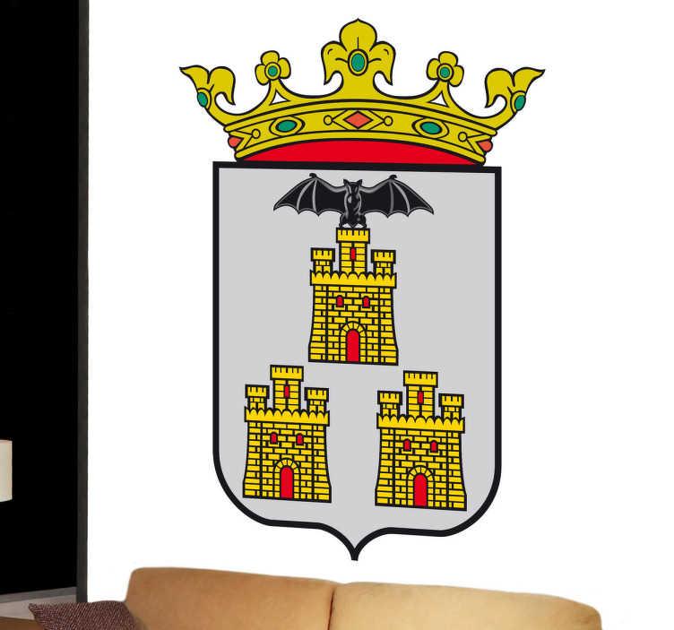 TenStickers. Vinilo decorativo escudo Albacete. Adhesivo a todo color con el emblema característico de los albaceteños, de nuestra amplia colección de vinilos decorativos.