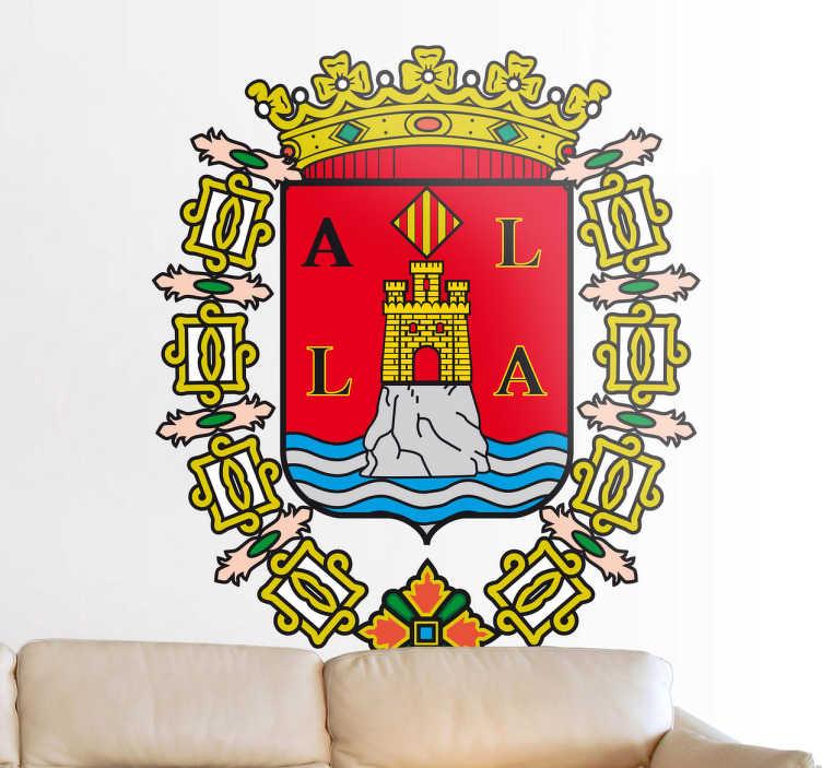 Vinilo decorativo escudo Alicante