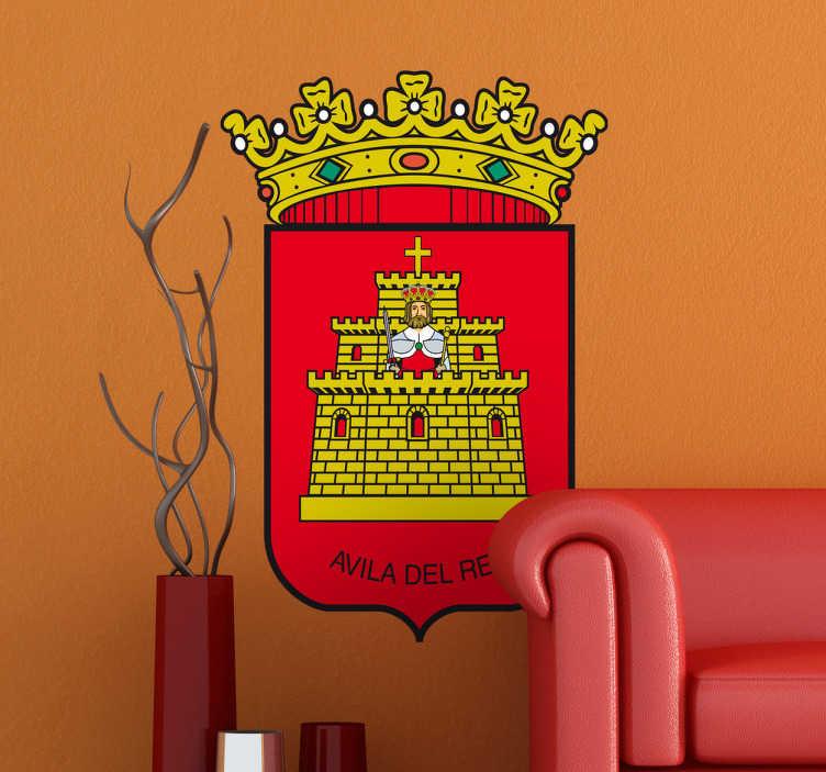 TenStickers. Vinilo decorativo escudo Ávila. Adhesivo con el emblema característico esta ciudad de Castilla y León, de nuestra amplia colección de vinilos decorativos.