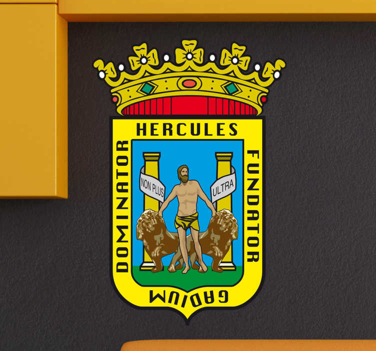 Vinilo decorativo escudo Cádiz