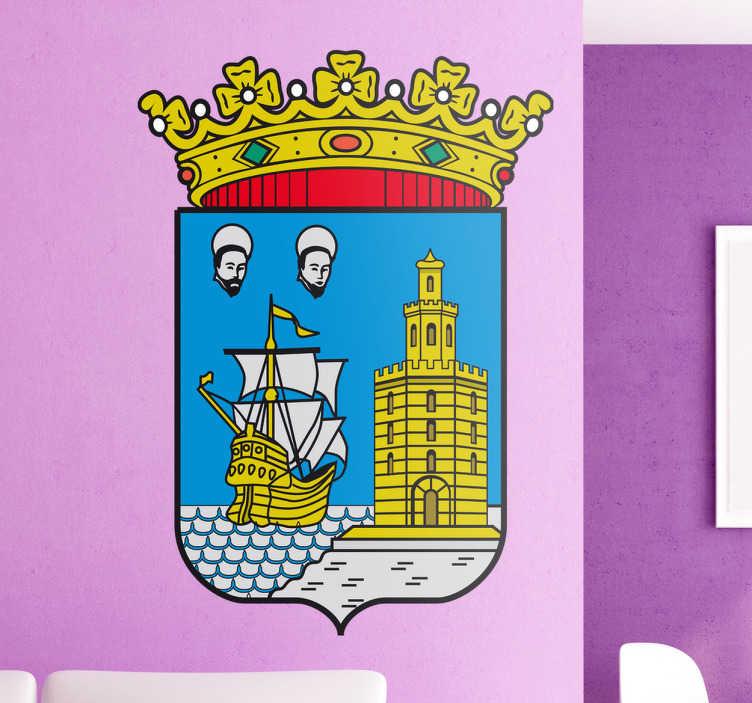 TenStickers. Wandtattoo Emblem Cantabria. Dekorieren Sie Ihr Zuhause mit diesem Emblem von Cantabria als Wandtattoo! Damit bringen Sie Stil und Geschichte an Ihre Wände