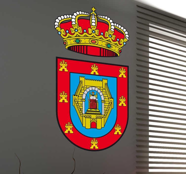 TenStickers. Vinilo decorativo escudo Ciudad Real. Pegatina con el emblema característico de esta localidad castellana, de nuestra amplia colección de vinilos decorativos.