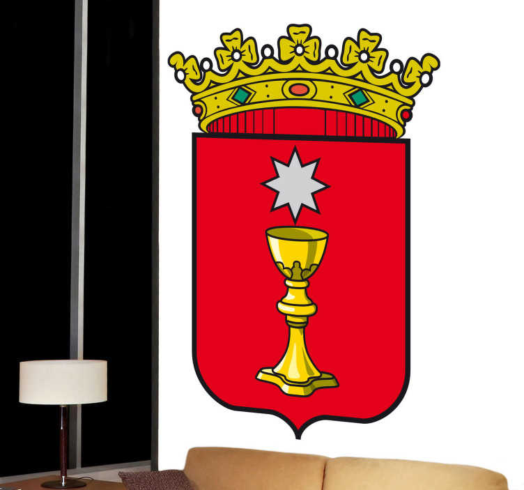 TenVinilo. Vinilo decorativo escudo Cuenca. Adhesivo a todo color con el emblema conquense, de nuestra amplia colección de vinilos decorativos.