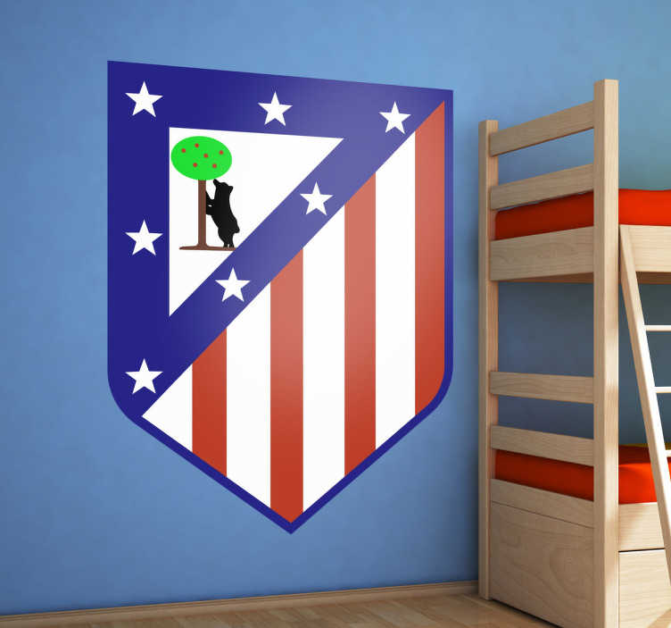 TenStickers. Madrid Atletico Wall Sticker. Sports Stickers - Ideal for the loyal fans of Atletico.Decals ideal for fans and sports-related organsations.