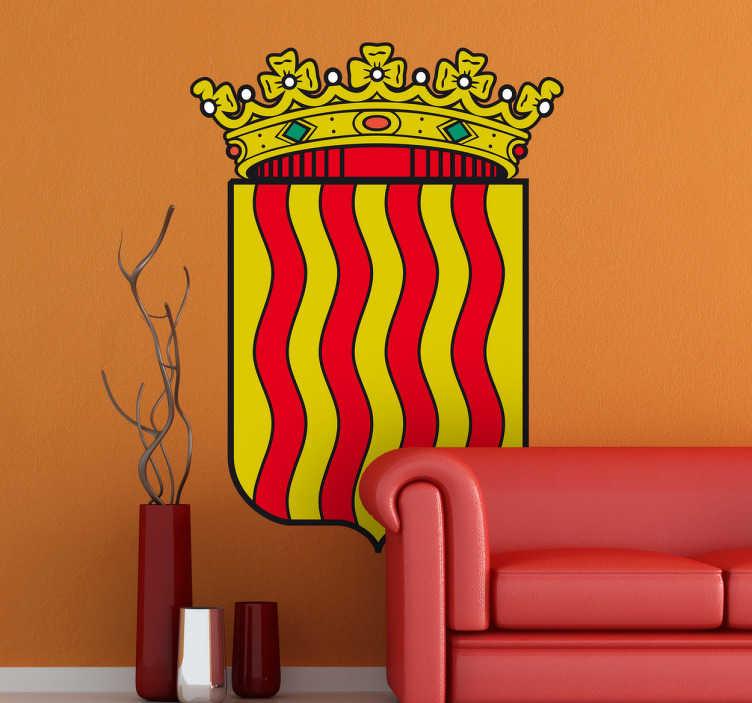 TenStickers. Wandtattoo Emblem Tarragona. Dekorieren Sie Ihr Zuhause mit diesem Emblem von Tarragona als Wandtattoo! Damit bringen Sie Stil und Geschichte an Ihre Wände