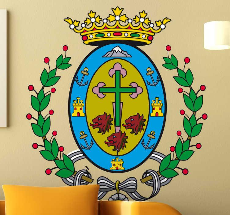 TenStickers. Wandtattoo Emblem Teneriffa. Dekorieren Sie Ihr Zuhause mit diesem Emblem von Teneriffa als Wandtattoo! Damit bringen Sie Stil und Geschichte an Ihre Wände