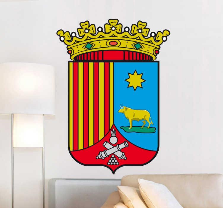 TenStickers. Wandtattoo Emblem Teruel. Dekorieren Sie Ihr Zuhause mit diesem Emblem von Teruel als Wandtattoo! Damit bringen Sie Stil und Geschichte an Ihre Wände